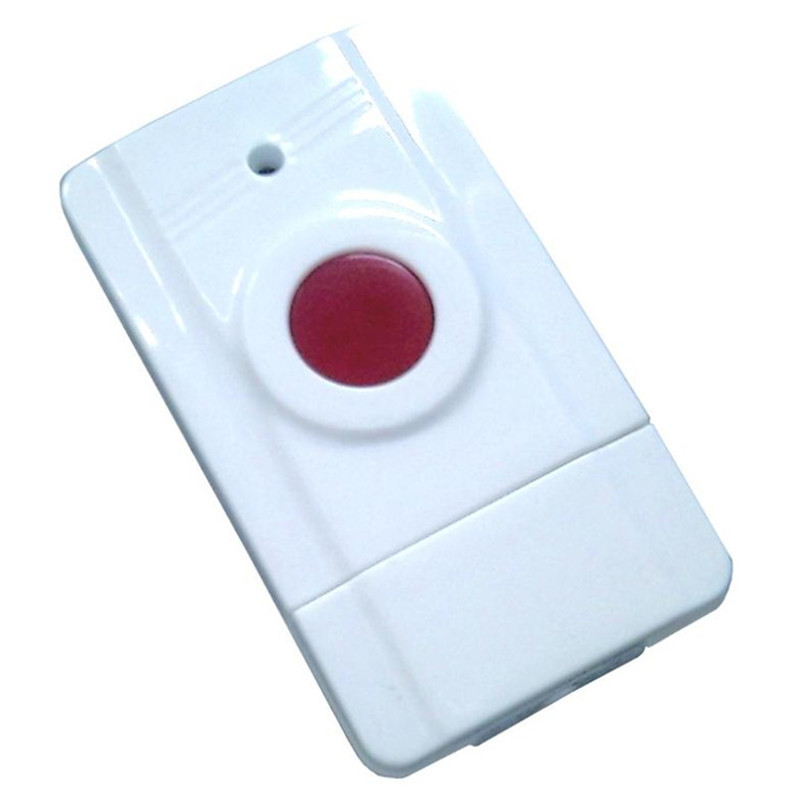 EM-100 433MHz Wireless GSM Elderly Emergency Button Panic Button Personal Work With GSM SMS Security Alarm System wireless service call bell system popular in restaurant ce passed 433 92mhz full equipment watch pager 1 watch 7 call button