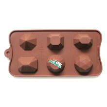 Silicone Soap Mold 6-Cavity DIY Handmade Candy Chocolate Mould Making Tool