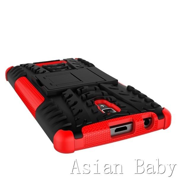 עבור Lenovo A2010. 2010 במקרה יון קשה שריון כבד במקרה קאפה PC+TPU בעל דוכן טלפון כיסוי היברידי סיליקון Coque Fundas