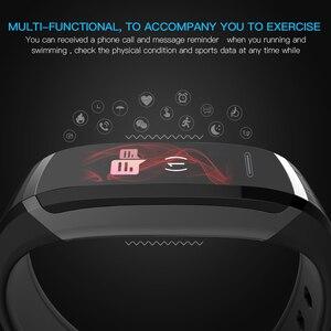Image 5 - Lerbyee חכם צמיד GT101 צבע מסך קצב לב צג כושר Tracker Bluetooth חכם להקה שחור גברים pk FK88 W46 P8