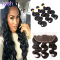 Iwish Malaysian Body Wave With Frontal Closure 3 Bundles With Frontal Closure Human Hair Weave With Ear To Ear Closure