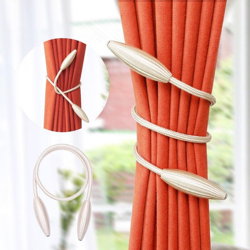 Praktisch 1 Paar Eenvoudige Diy Gordijn Riem Gesp Cortinas Tieback Riemen Touwen Gordijn Gordijn Accessoires Haak Houder Decor Cp103