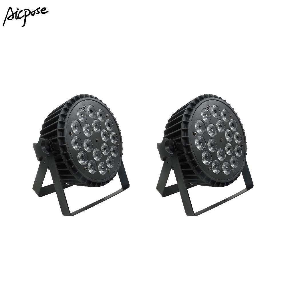 2pcs/lots 18x12W RGBW 4in1 LED Par Can Light DMX512 Stage Lights Or Party KTV Disco DJ Aluminum Led Par Light