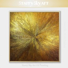 Luxury Wall Art Hand-painted High Quality Abstract Picture Acrylic Textured Gold Painting for Decor