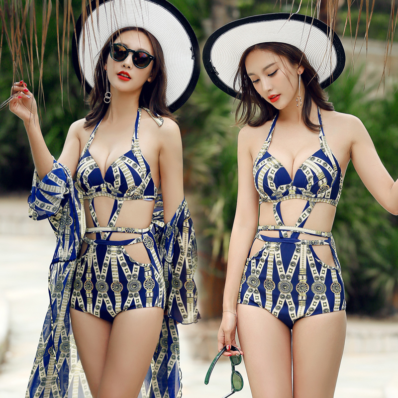 One Piece Swimsuit 2017 Sexy Print Bandage Swimwear Women Bathing Suit Swim Vintage Summer Beach Wear Monokini Swimsuit Dress 2017 sexy striped one piece monokini plus size women padded swimsuit bathing suit swimwear pink black red color dress beach wear