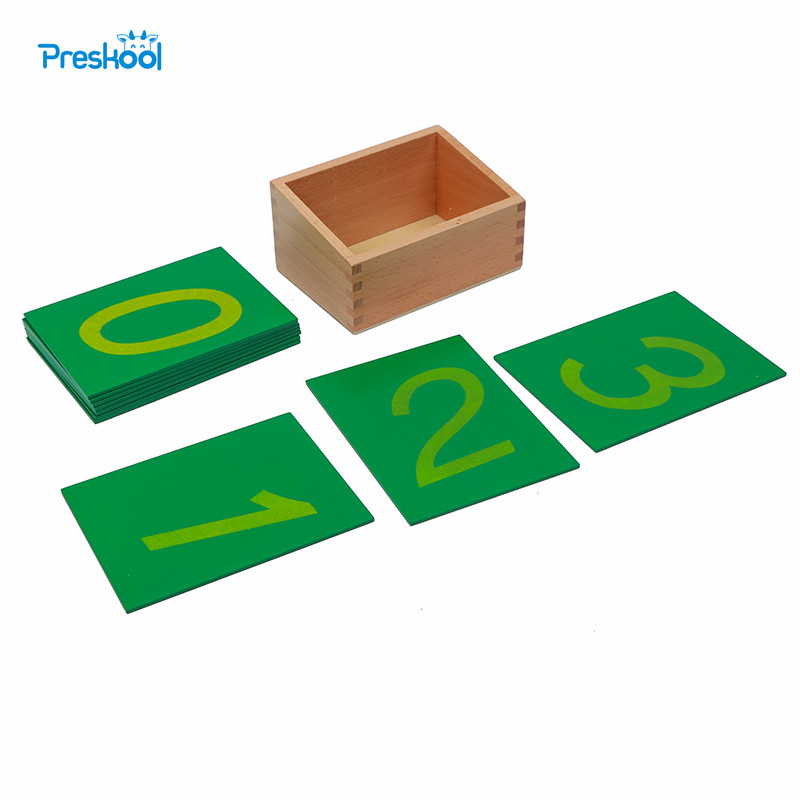 Montessori Baby Toy Math Sandpaper Number with Box Early Childhood Education Preschool Training Kids Toys Brinquedos Juguetes