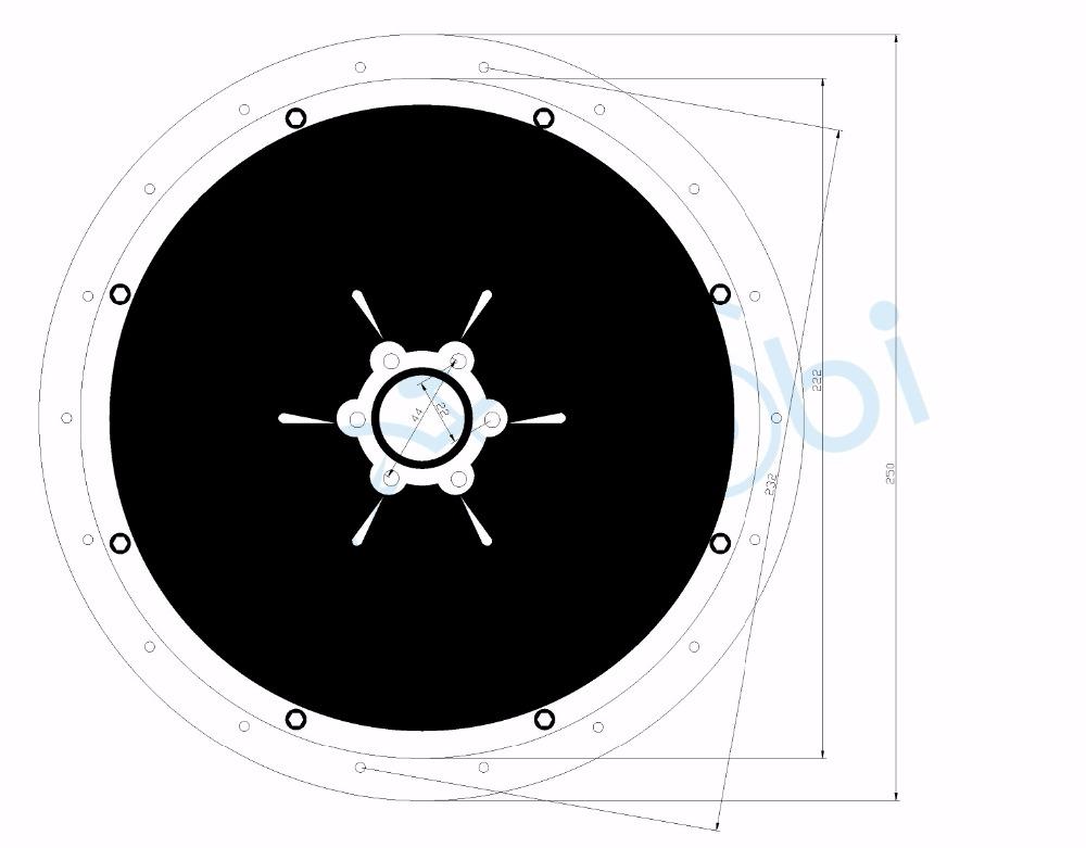 500W,750W,1000W Rear Motor Cover Drawing-2