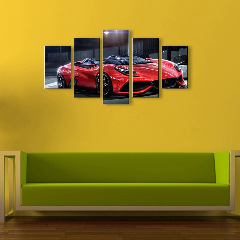 5 pieces high definition print world\'s cars canvas oil painting ...