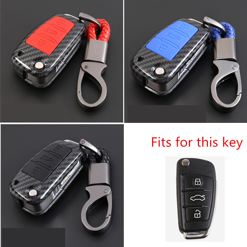Carbon Fiber Car-Styling Auto Protection Key Shell Carbon Fiber Cover Case For Audi TT A7 A4 A4L 8S B9 Q5 A6L A5 A8 Q3 Q7 Access