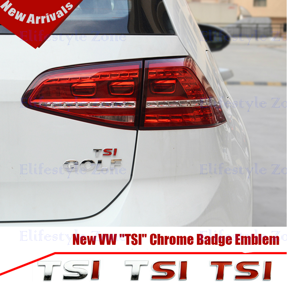 buy   tsi chrome badge logo emblem sticker  volkswagen vw golf tiguan