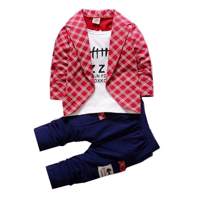 b43bb0fbf1936 Formelle Vêtements Pour Tout-petits Garçons Bébé Garçon Deux Faux Formelle  veste Costume Ensemble Printemps