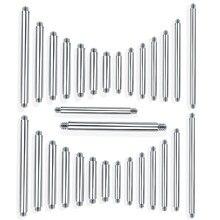 Piercing de barra reto em aço inoxidável, acessórios de substituição para linguagem do corpo, 100, pçs/lote