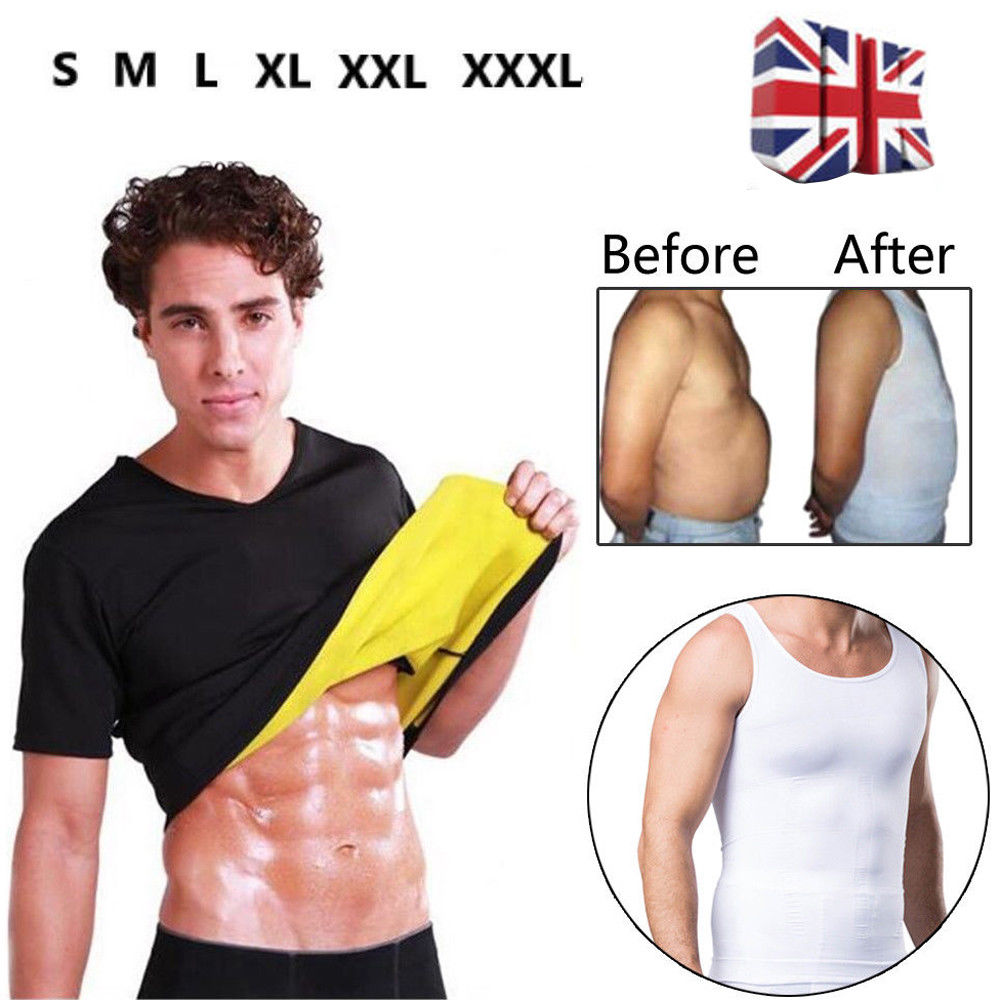 821fc356f9d Men Shaper Gym Neoprene Vest Sauna Ultra thin Sweat Shirt Body Slimming  Corset Short Sleeve S XXXL-in Shapers from Underwear   Sleepwears on  Aliexpress.com ...