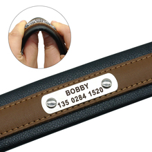 Personalized Dog Collar Customized Dogs ID Collars Inner Padded Leather Pet Collar for Medium Large Pets Free Engraving