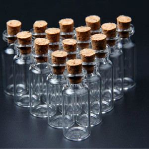 20Pcs/pack 2ML 16x35mm Tiny Small Clear Cork Glass Essential oil Refillable Bottles Vials For Wedding Holiday Decoration Bottle