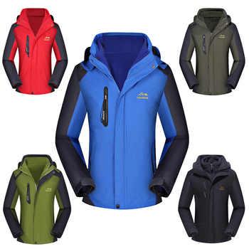 Women ski jacket Mountain Thicken Plus Size Fleece Ski-wear Waterproof Hiking Outdoor Snowboard Jacket Female Snow Jacket