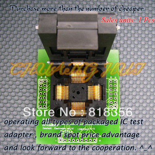 TQFP64 QFP64 LQFP64 Adapter IC Test Socket Programming Adapter 0.5mm Pitch IC51-0644-807 ic xeltek programmers imported private cx3025 test writers convert adapter