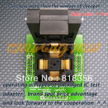 TQFP64 QFP64 LQFP64 Adapter IC Test Socket Programming Adapter 0.5mm Pitch IC51-0644-807 bm1114a programmer adapter pm rtc005 312b ic51 0644 675 tqfp64 qfp64 adapter ic socket ic test socket