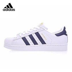 Adidas Superstar Men and Women, Walking Shoes, Dark Blue/color, Shock Absorption Wear-resistant Lightweight S81014 BB2146
