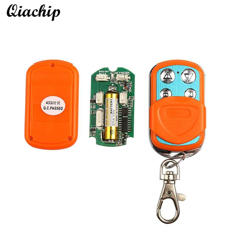433MHz RF Wireless Remote Control Duplicating Cloning Transmitter Key Fob Garage Door Opener for Smart Home Light Switch Control hot sale wireless universal garage remote control duplicate key fob 433mhz cloning gate garage door hot worldwide
