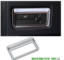 Chrome Rear Door Button Cover Trim Sticker For Range Rover Evoque 2011 2012 2013 2014 2015 Accessories Car Styling
