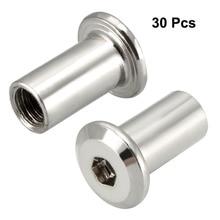 Uxcell Top Sale 30pcs lot M6 M8 10 22mm Hex Socket Head Screw Post Female Thread