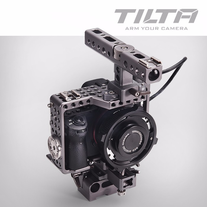 Tilta ES-T17 Dslr Camera A7s Rig Cage+Baseplate+Top Handle Movie Kit For SONY A7 A7s A7s2 A7R A7R Video Shooting bmpcc cage dslr rig top handle handgrip video system for blackmagic pocket camera p0016911 free shipping