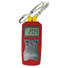 Contact thermometer, DT821A thermocouple thermometer, digital thermometer compact size thermocouple thermometer low cost thermometer dual inputs thermometer center 308