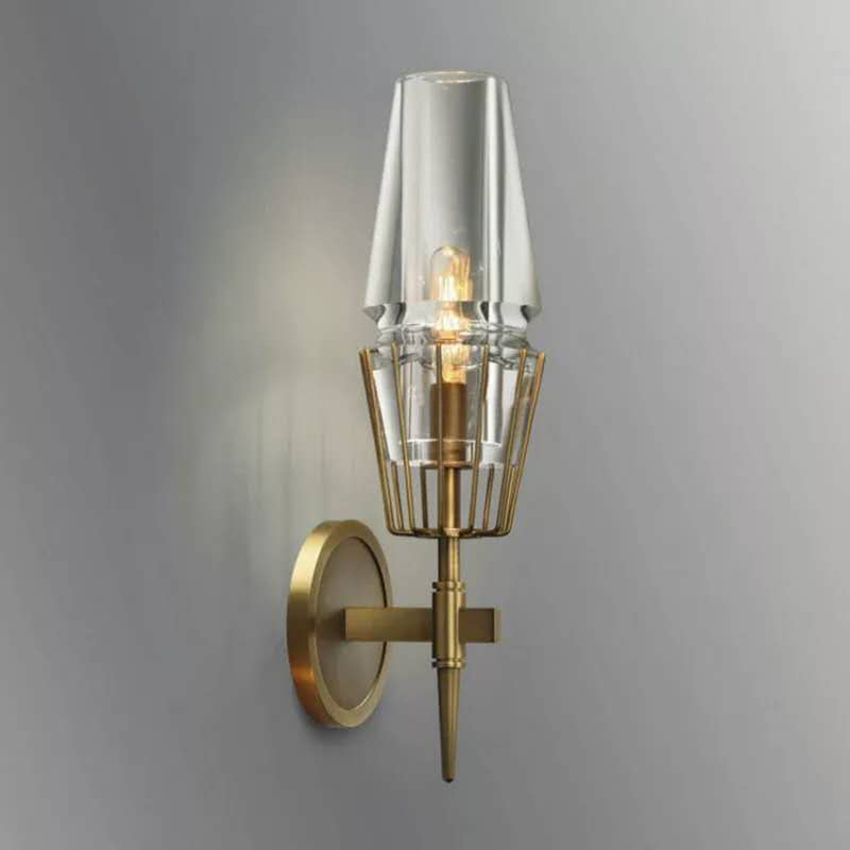 Постмодерн промышленный настенный светильник 1/2 головок стеклянный светодиодный стенное бра свет лестница ресторана прохода светильник с...