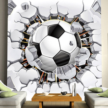 Cool Football Photo Mural Custom Any Size 3D Boys KidsRoom Sofa Seamless Murals