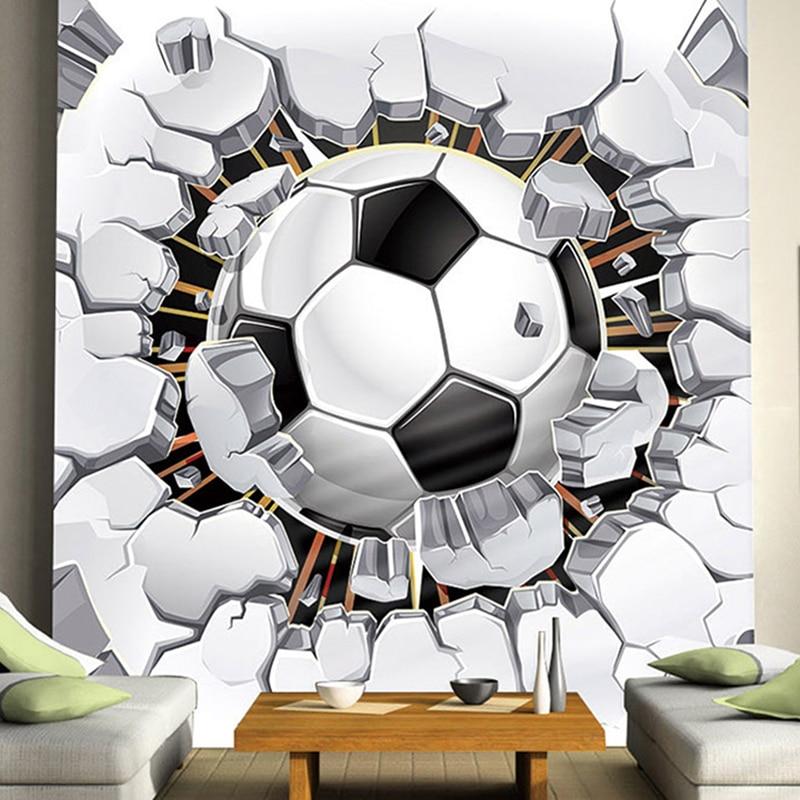 Football Photo Mural Custom Any Size Boys Kids Room Sofa Seamless Murals Wallpaper Rolls Tv Background Wall Home Decor