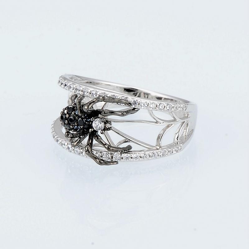 SANTUZZA sudraba zirnekļa gredzens sievietēm 925 sudraba unikālie - Modes rotaslietas - Foto 4