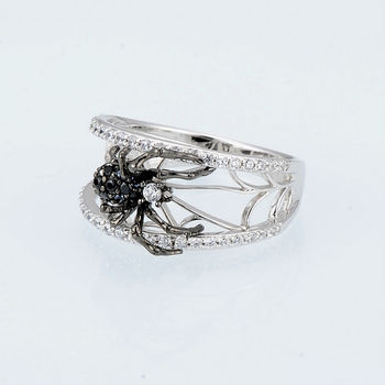 925 Sterling Silver Spider Ring2