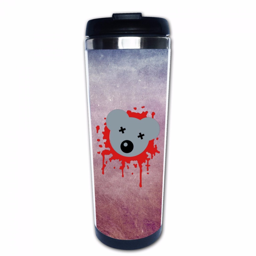 <font><b>Zombie</b></font> Splatter Mouse Bear <font><b>Pirate</b></font> Stainless Steel Insulated Custom <font><b>Cup</b></font> and Coffee Mug 14 oz