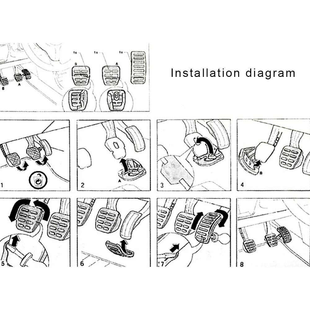 Ручной/Автоматическая Автомобильная педаль тормоза педаль управления подачей топлива автомобиля сборки интерьер сцепления педаль из нержавеющей стали крышка
