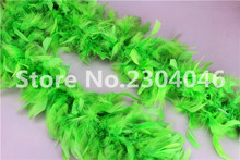 Beautiful green 2 meters long (38-40 grams) decoration feather garment accessories wedding DIY fire feather fire tablets