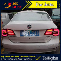 Free Shiping 12V 6000k LED Rear Light For VW Volkswagen Jetta 2013 Taillight Lamps Auto Light