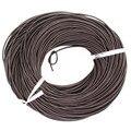 2 мм реального Oxhide подлинная кожаный шнур черный / коричневый цвет круглый натуральной кожи для колье браслет решений украшения шнура 100 м / ROLL
