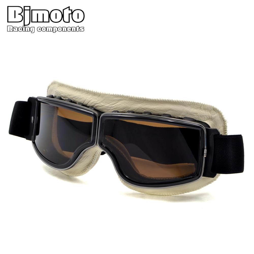 BJMOTO Aviator Pilot Cruiser WWII Vintage Harley style motorcycle gafas motocross goggles moto Glasses Motorcycle Goggle