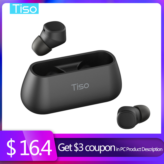 Tiso i4 Bluetooth 5.0 earphones TWS true wireless stereo 3D headphone sports IPX5 waterproof headset with dual microphone