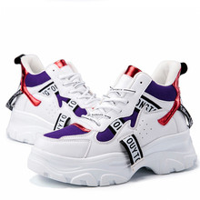 цена на New women's shoes spring and autumn fashion casual mesh breathable sneakers women's shoes thick bottom comfortable women's shoes