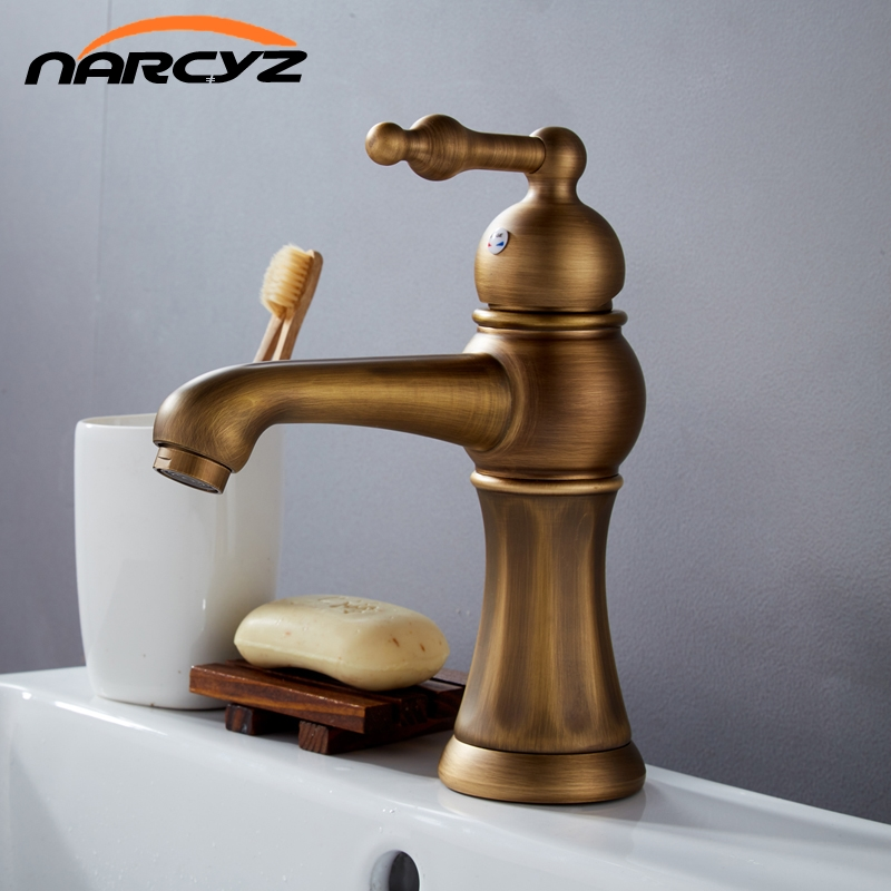 Basin Faucets Antique Torneira Banheiro Bathroom Basin Mixer Tap Brass Hot And Cold Faucet Vintage Single Hole Taps XT920Basin Faucets Antique Torneira Banheiro Bathroom Basin Mixer Tap Brass Hot And Cold Faucet Vintage Single Hole Taps XT920