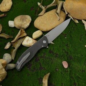 Image 2 - Verde spina Hati Custom M390 F95 pieghevole in fibra di carbonio coltello 3D titanium maniglia di campeggio coltello da frutta allaperto edc STRUMENTO di sopravvivenza
