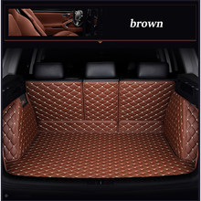Leather car trunk mat for Audi A6L Q3 Q5 Q7 S4 A5 A1 A2 A3 A4 B6 b8 B7 A6 c5 c6 A7 A8 car accessories styling cushion trunk pad(China)