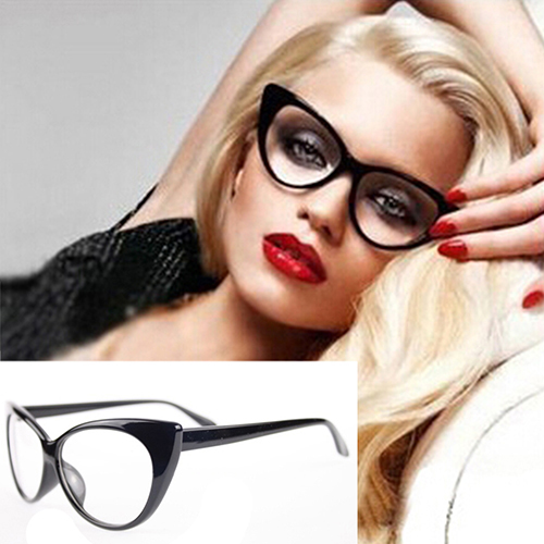 4c347e01b4 2016 New Women Classic Sexy Vintage Cat-Eye Shape Plastic Plain Eye Glasses  Frame Eyewear 6YJS 7GN6 7Q2C
