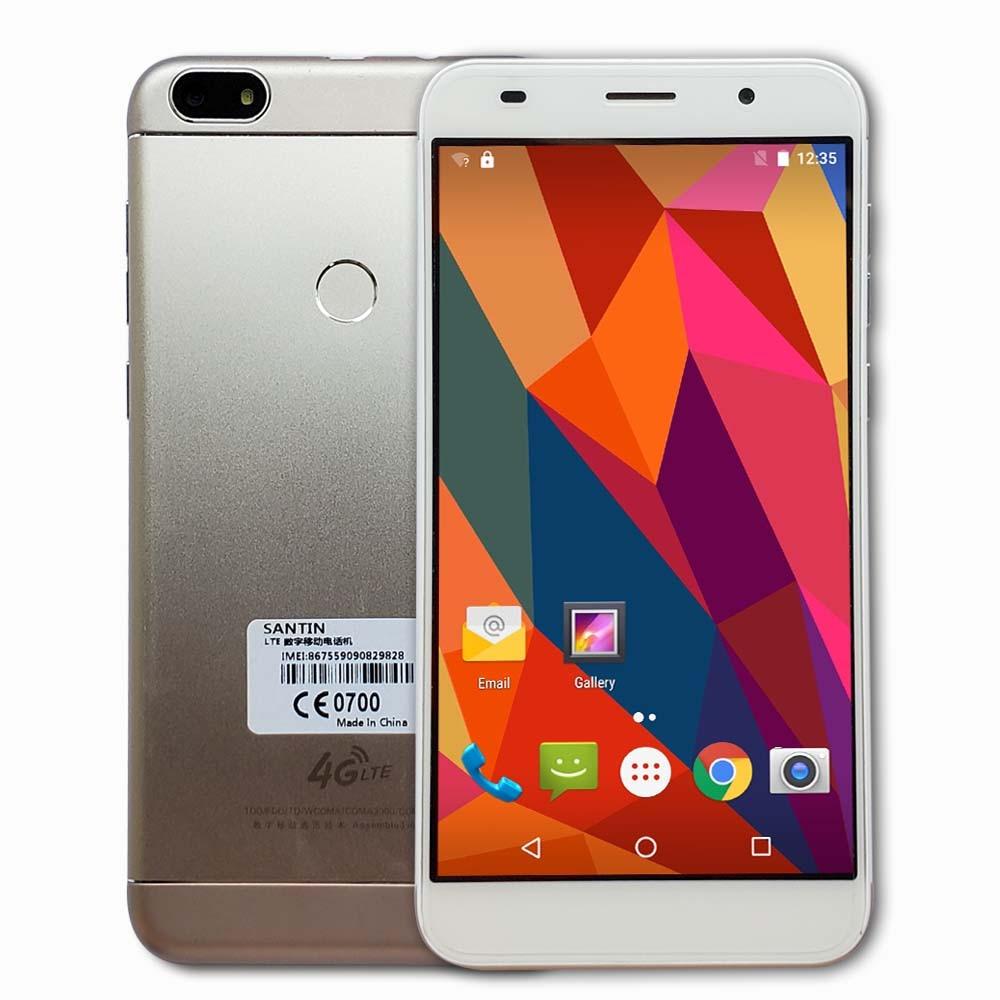 "SANTIN V9 5,5 ""HD Quad Core teléfono MTK6735 4G LTE Smartphone Android 6,0 2GB de RAM 16GB ROM teléfono móvil HT16 C8 C12 S16-in Los teléfonos móviles from Teléfonos celulares y telecomunicaciones on AliExpress - 11.11_Double 11_Singles' Day 1"