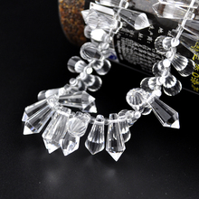 10pcs/lot Crystal Tear Drop Beads Pendant 20x8mm Colorful Faceted DIY Bead Curtains Chandelier Light Jewelry Necklace Making