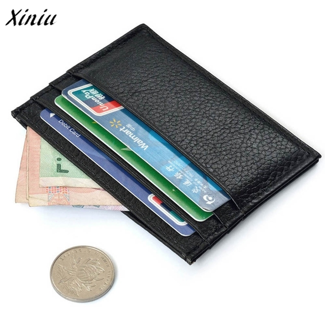 b87d0789ef Di modo sottile portafoglio uomo Porta Carte di Credito Mini Caso di  IDENTIFICAZIONE Del Raccoglitore Borsa