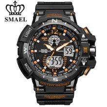 4028cad93b75 SMAEL deporte reloj hombres 2019 reloj hombre Digital LED relojes de  pulsera de cuarzo de los hombres de la marca de lujo de rel.
