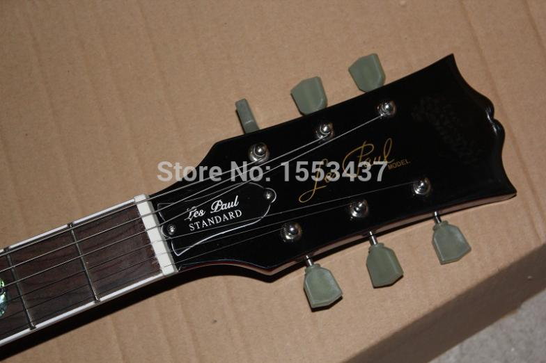 Free shipping 2017 new wholesale L Standard 6 Strings Tiger flame Snake fingerboard Electric Guitar guitar factory